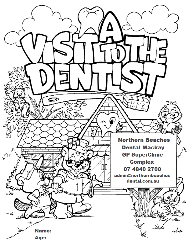 children teeth coloring pages - photo#8